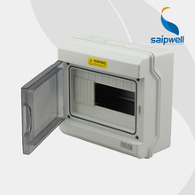 Saipwell 2014 Hot Waterproof Distribution Box Clear cover Distribution Box IP66 9 ways Circuit Breakers Box GDB-09 High Quality