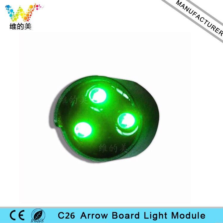 C26 3 Waterproof LED Arrow Board Sign Pixel Cluster Module