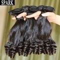 Onda espiral cabelo brasileiro virgem do cabelo 1 pc/lote 100% não transformados humano tecem extensões de cabelo faísca rico Curly nenhum emaranhado