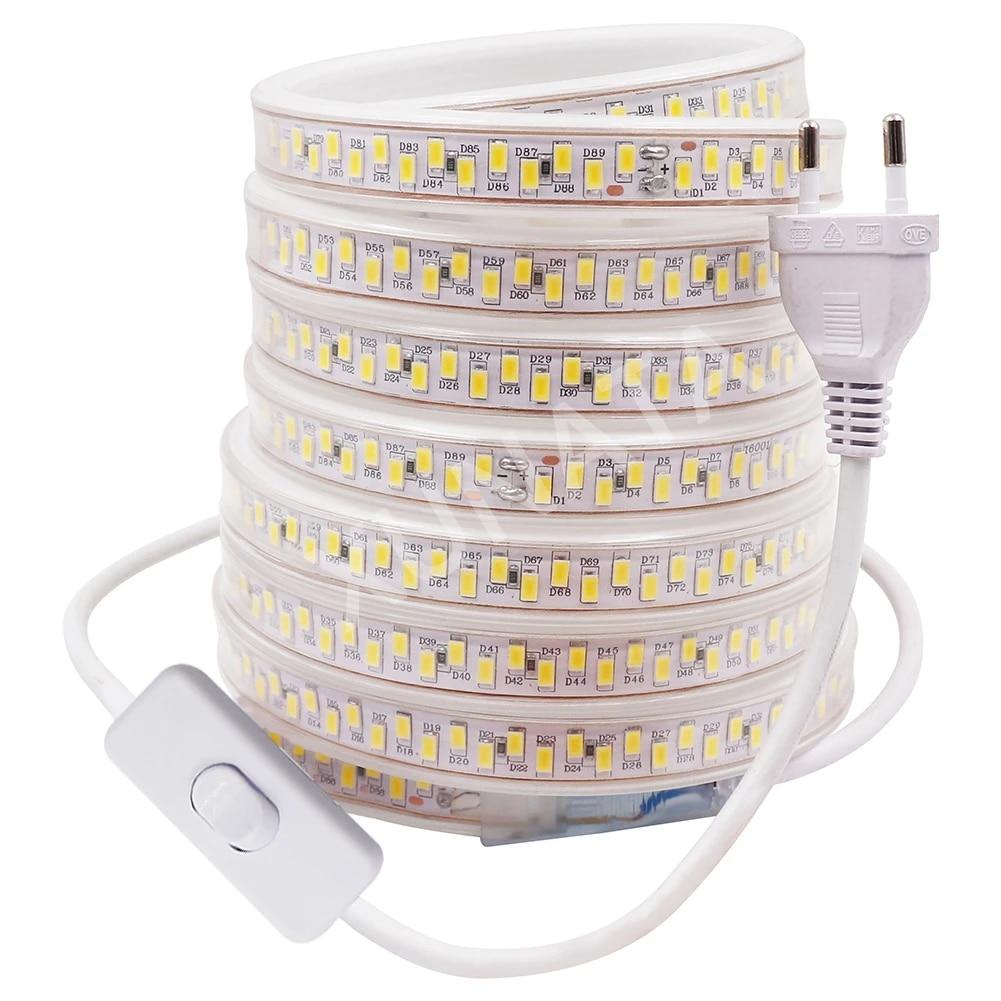 1m-100m 5630 5730 LED Strip Waterproof IP67 180leds//m Commercial Rope Light 220V