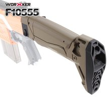 Worker Mod Shoulder Stock Replacement Kit Foldable Tail Stock Buttstock Toys Accessories For Nerf N-strike Elite Toys Gun Parts