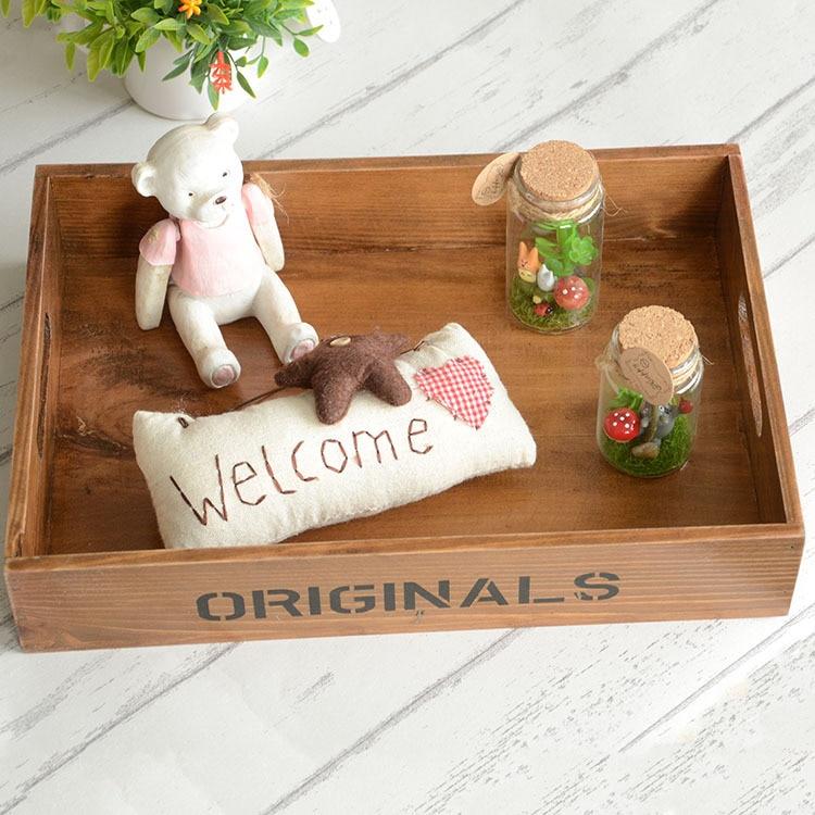 Коробка для хранения Zakka творческий домашнего интерьера украшения Дерево ремесел деревянный ящик для хранения