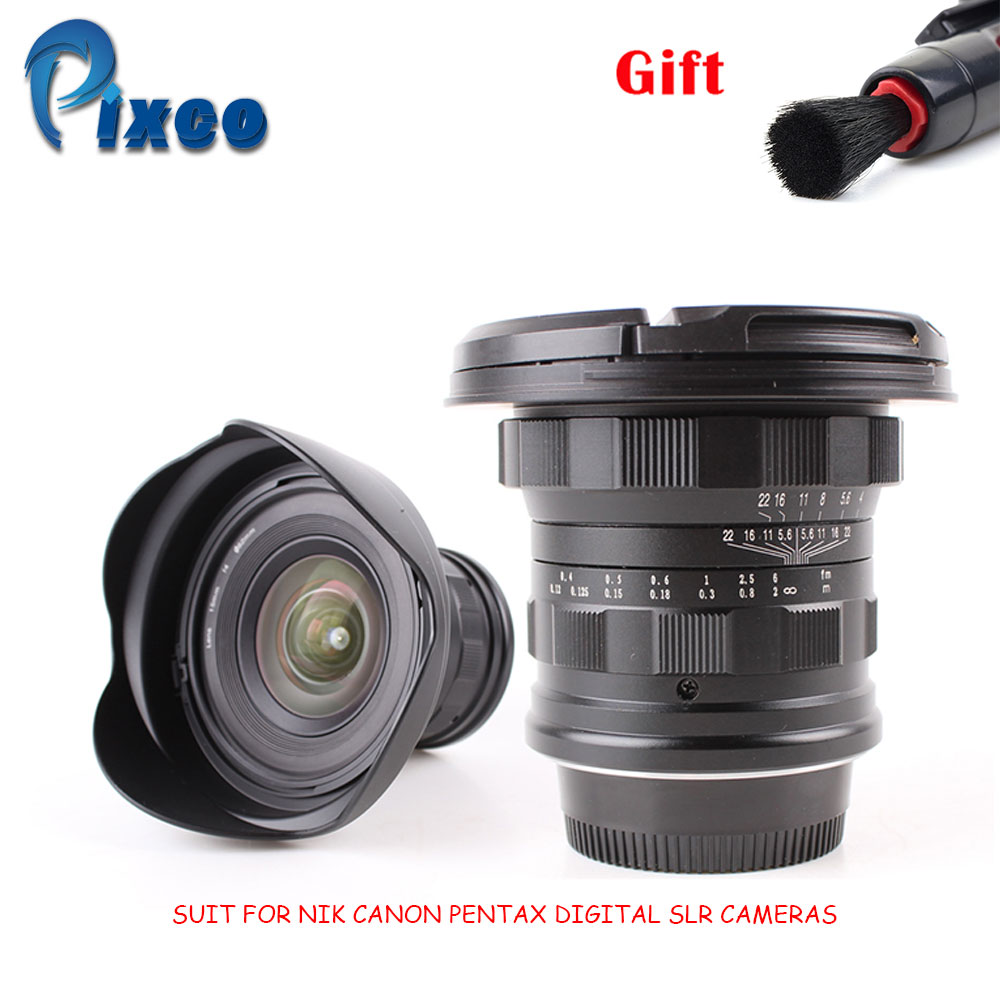 PIXCO 15mm f/4 f4.0 Ultra Grand Angle Lentille costume pour Nikon Canon Pentax REFLEX Numérique Caméras + cadeau