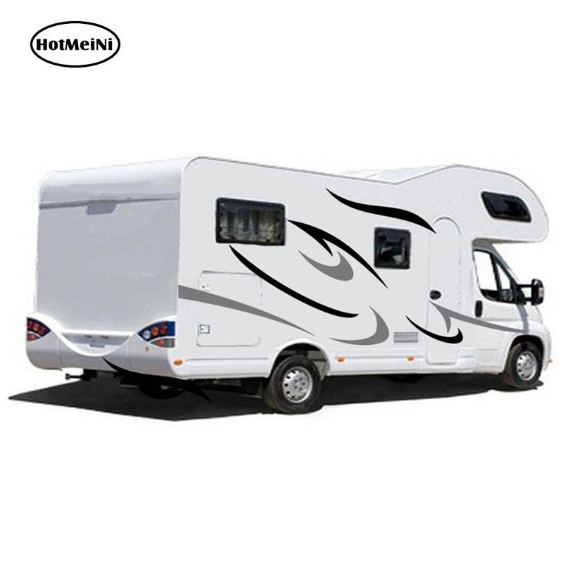 HotMeiNi Camping-Car Caravane Remorque Voyage Camping-Car Van Rayures Graphiques (un pour chaque côté) vinyle Graphiques Kit Stickers Autocollants De Voiture