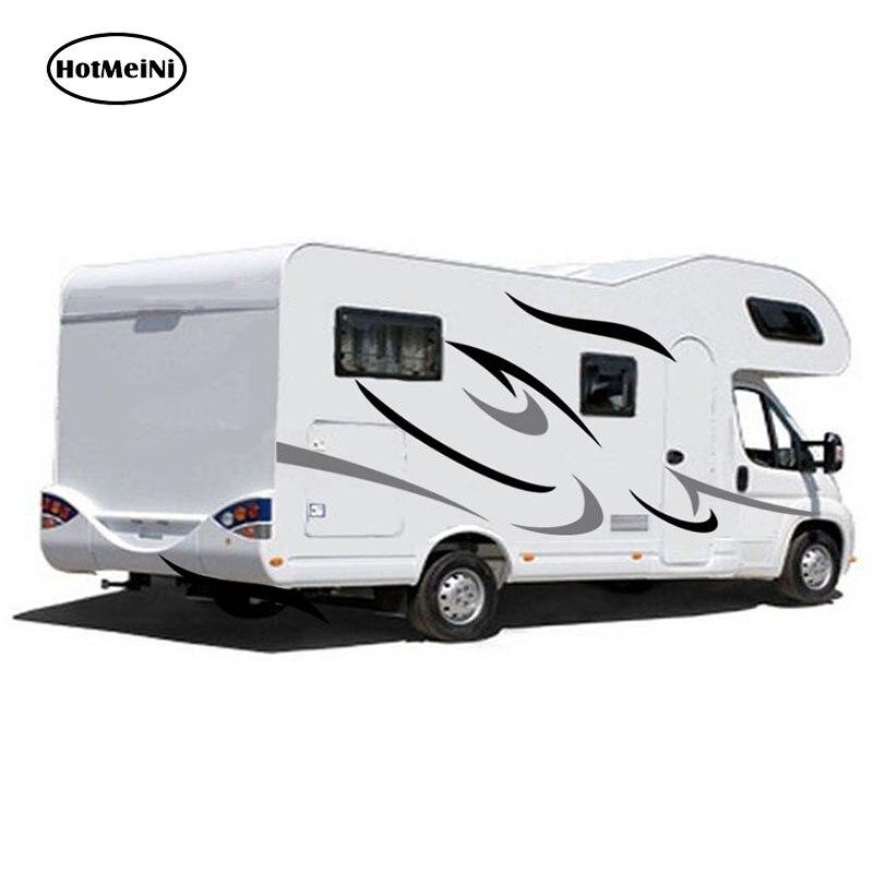 HotMeiNi camping-Car caravane voyage remorque camping-Car rayures graphiques (un pour chaque côté) vinyle graphique Kit Stickers voiture autocollants