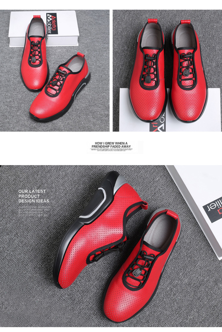Spring Autumn Men Casual shoes Genuine leather Breathable Male Sneakers Lace-Up Flats Sport shoes zapatos de hombre 02A 30