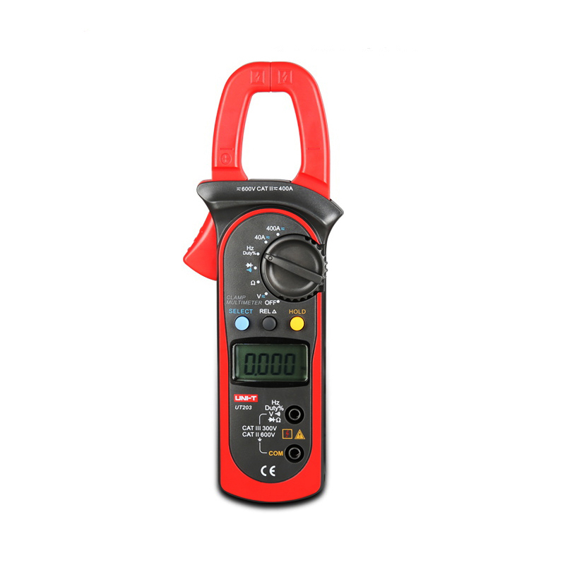 New Arrivals UT203 Voltage Current Meter LCD Digital Auto Range Clamp Multimeter With Resistance, Frequency Measurement China my68 handheld auto range digital multimeter dmm w capacitance frequency