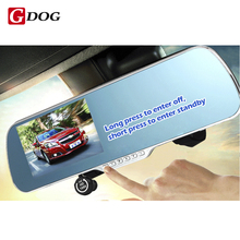 universal DVR 5.0″ Touch Android 4.4 Dual lens FHD1080P camera WiFi GPS parking car dvrs Rearview mirror video recorder Car DVRs