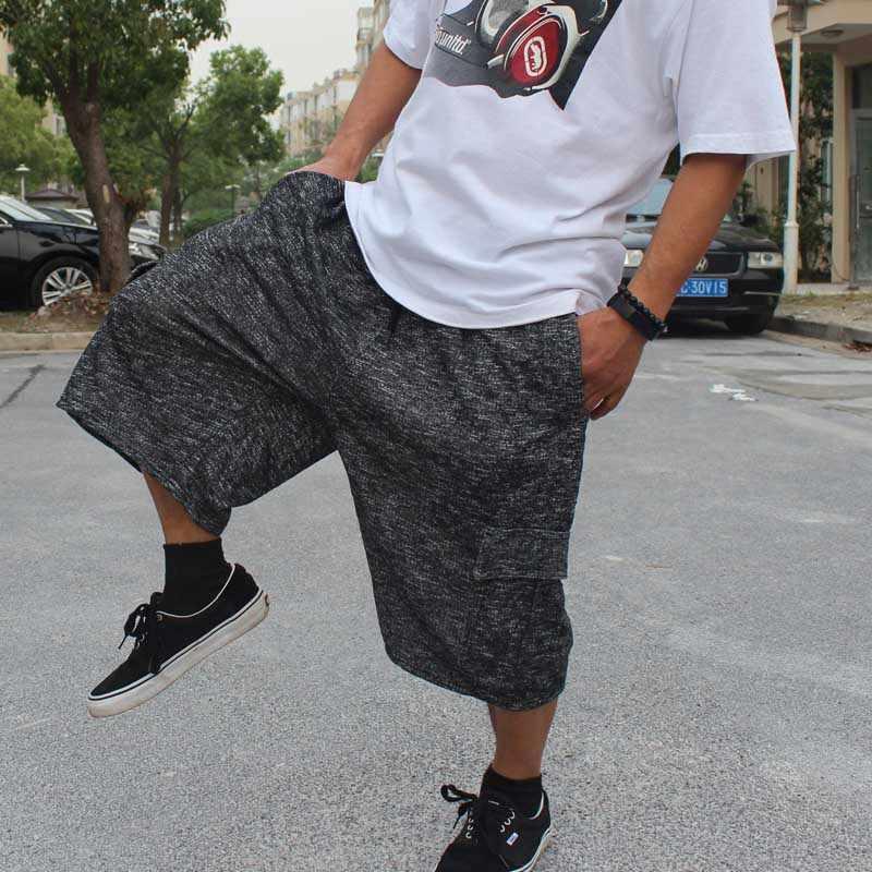 Plus Size CARGO กางเกงขาสั้นผู้ชายลำลองตรงหลวม Baggy Sweatpants ฝ้าย Hip Hop กางเกงขาสั้น Joggers Streetwear กางเกงขาสั้นชายหาดเสื้อผ้า