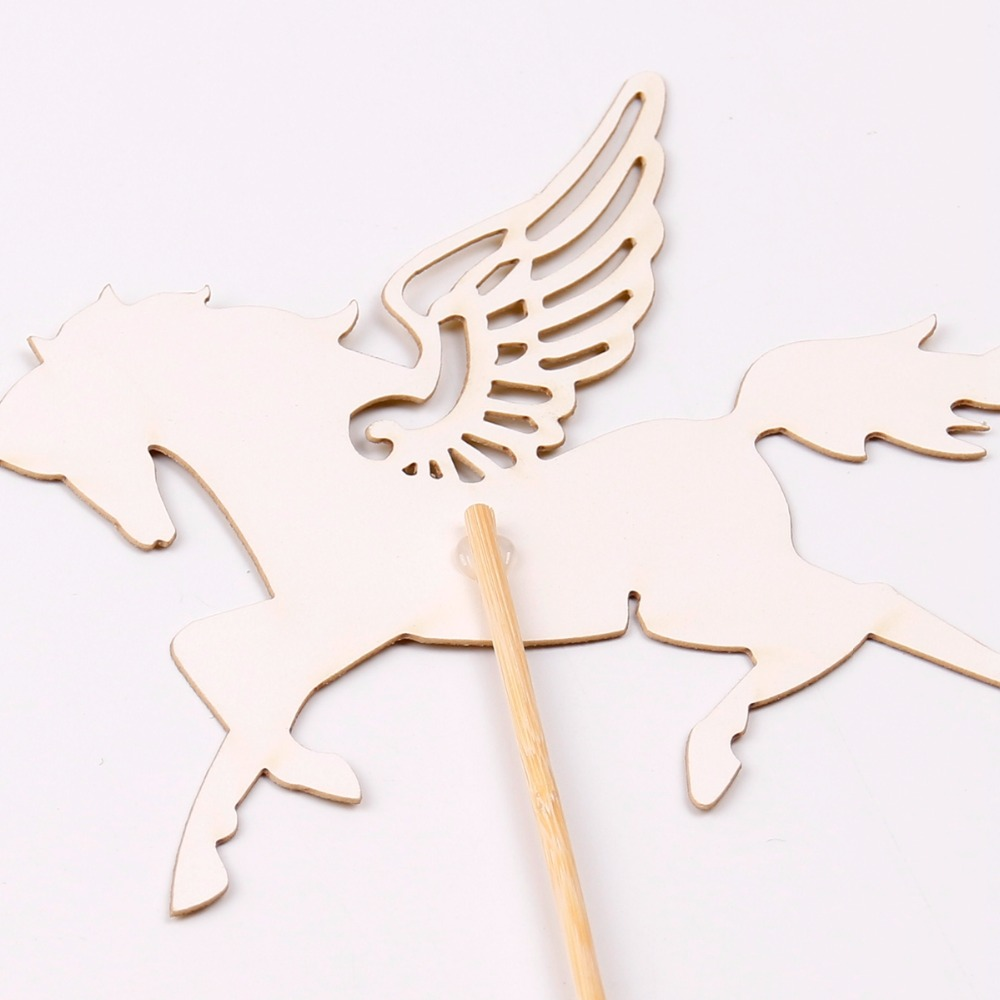 FENGRIS Gold Unicorn Cake Topper Glitter Horse With Wing Unicorn Cupcake Topper Unicorn Birthday Party Decoration Supplies