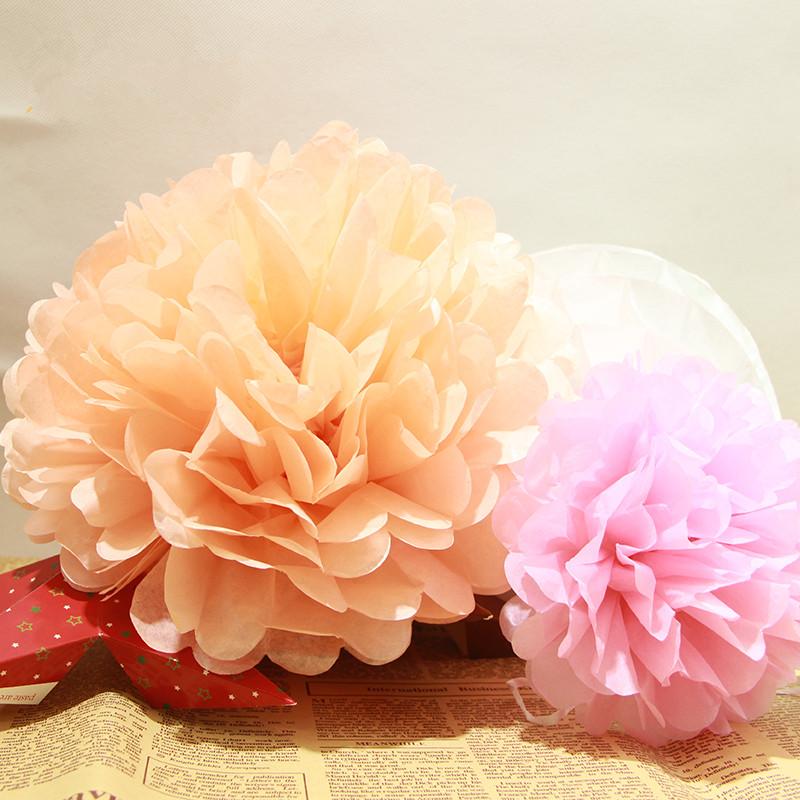 cm unidslote artificial flores de papel tissue pompn bolas de flores para la fiesta de bodas en casa artesanas de decora