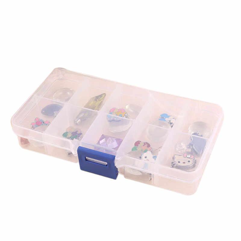 1pc Organizer For Decorations Elegant Tray 10 Slot PC Case Jewelry Rings Display Box Jewelry Storage Organizer For 0.605