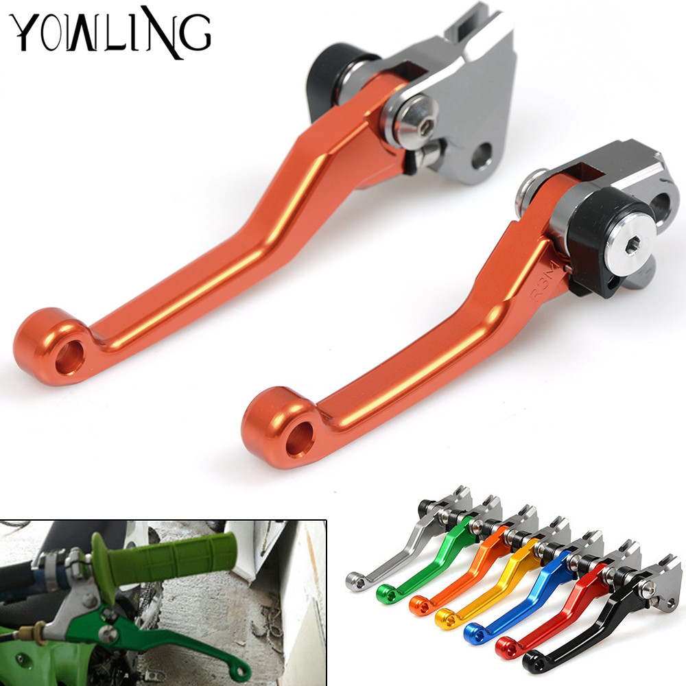 For KTM 250 EXC / EXC-F / XC / XC-F / XCF-W / SX / SX-F 2014 - 2017 CNC Pivot Brake Clutch Levers (SIX DAYS) Dirtbike 2015 2016 new style dirt bike motocross cnc pivot brake clutch levers green for ktm 350 sx f xc f xcf w exc f 2011 2012 2013 have 7 colors