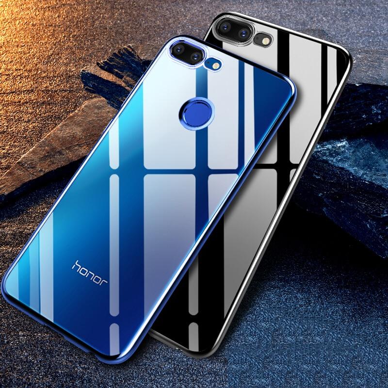 Чехол для Huawei Honor 9 Lite, мягкий силиконовый чехол-бампер из ТПУ с покрытием, Роскошный прозрачный чехол для Honor 9 Lite