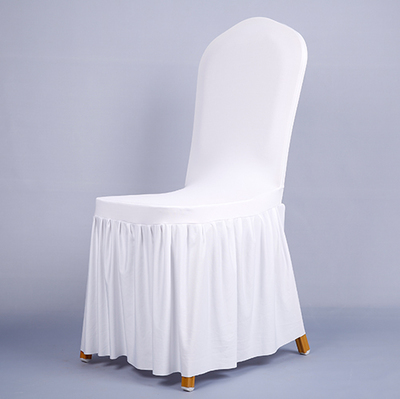 Pleated skirt elastic chair cover banquet covers customized