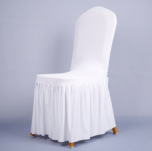 Pleated skirt elastic chair cover chair cover banquet chair covers chair cover customized