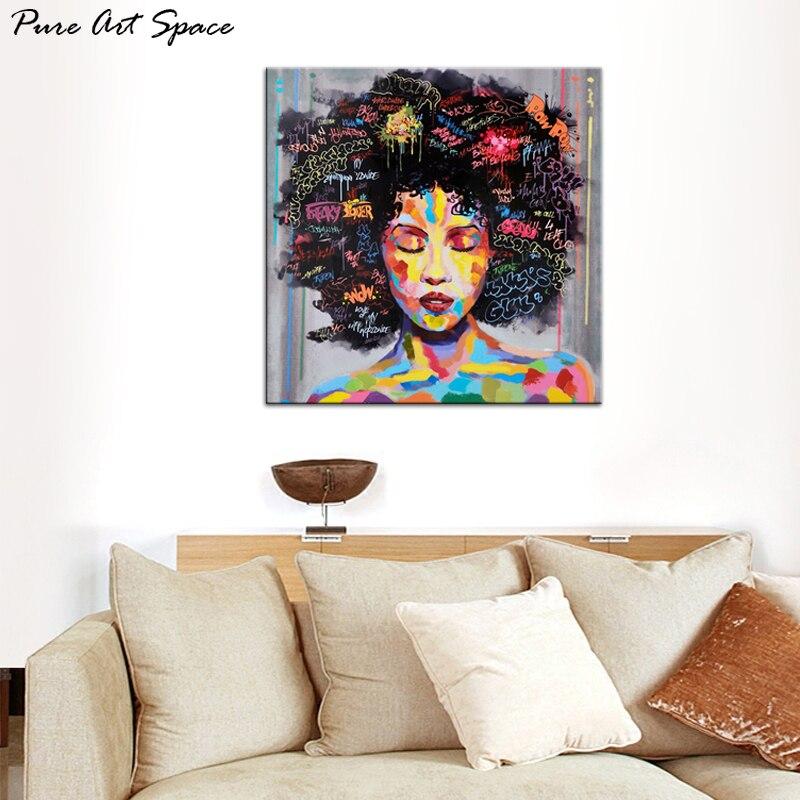 African American Canvas Print Art Painting Portrait