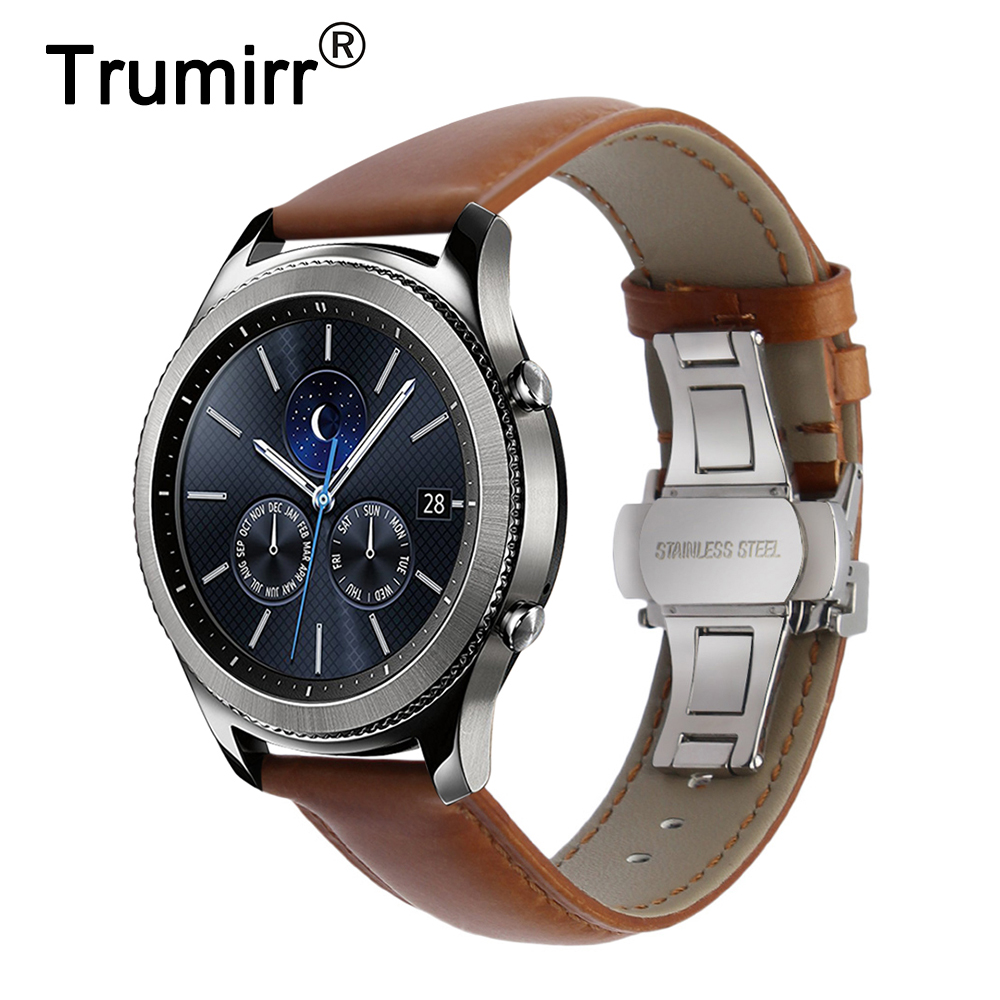 Italian Genuine Leather Watchband Quick Release Strap for Samsung Gear S3 Classic Frontier Gear 2 Neo Live Watch Band Wrist Belt