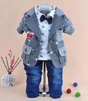 New 2014 Baby Boy High Quality Wooden Horse Gentlemen Clothing Sets 3pcs Kids Clothes Sets Boy