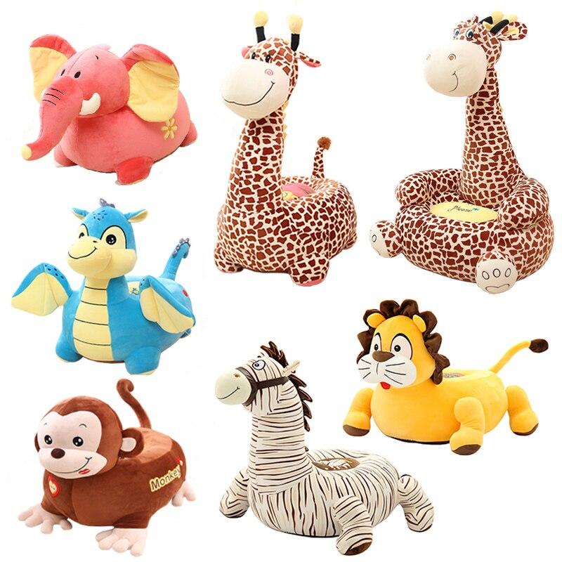 Kind Knuffel Aap Dolfijn Giraffe Cartoon Seat Kruk Sofa Verjaardagscadeau,  Pluche Seat Stoel