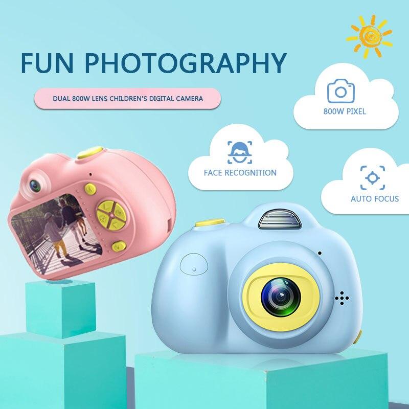 Enfants jouets caméra enfants caméras compactes enfants Selfie Mini dessin animé photographie Image Portable Support TF carte 1080 p Photo - 5