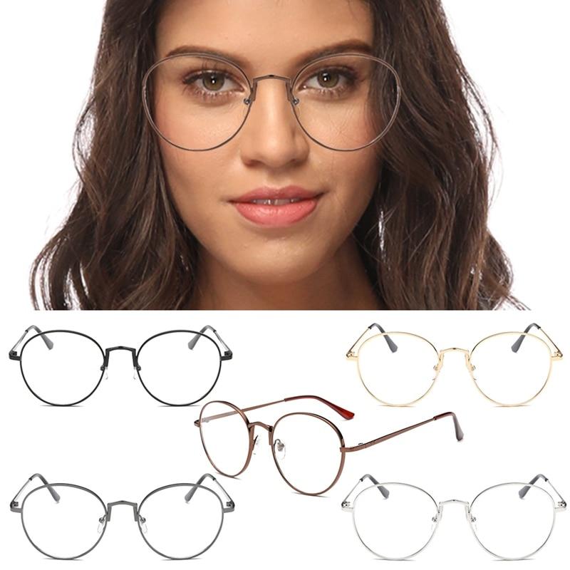 Round Glasses Frames For Women Brand Designer Sunglasses Frame Clear Lens Glasses Retro Transparent Glasses