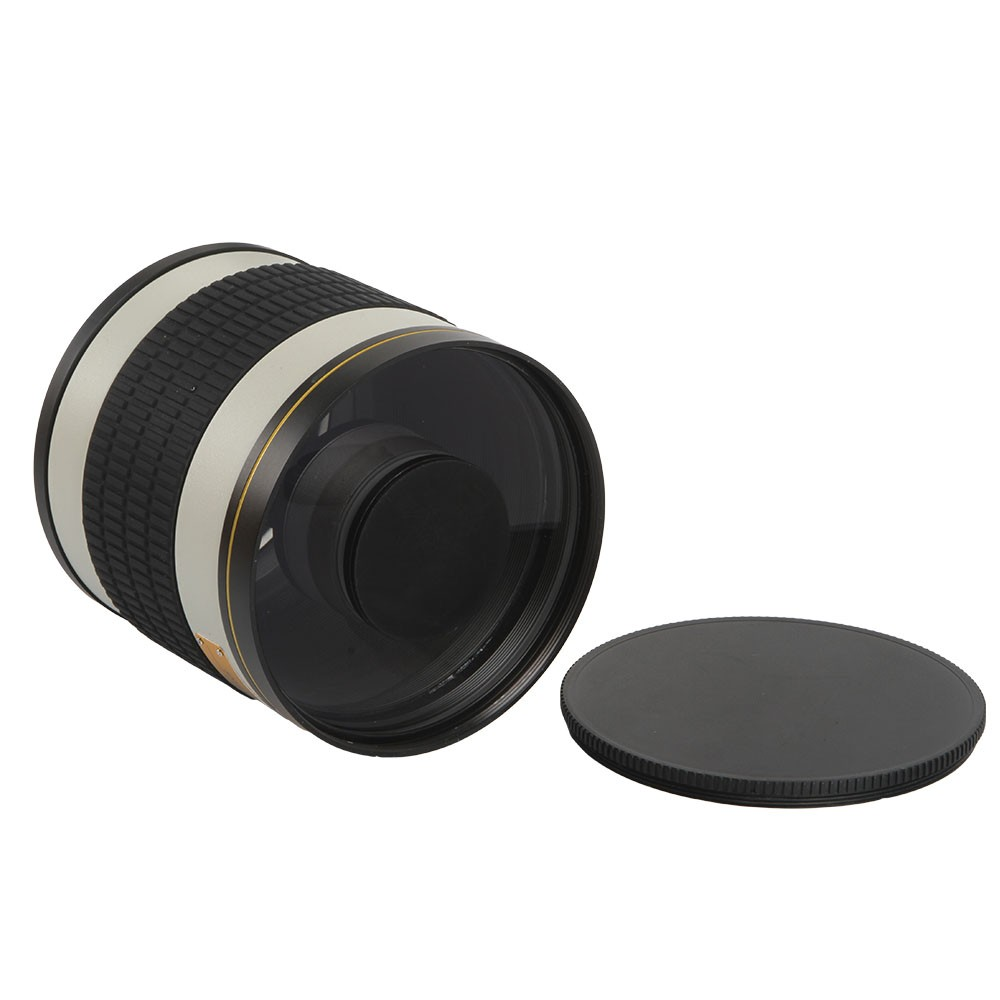 500mm F/6.3 Telephoto Mirror Lens + T2 Mount Adapter Ring for Canon Nikon Pentax Sony Olympus DSLR 7