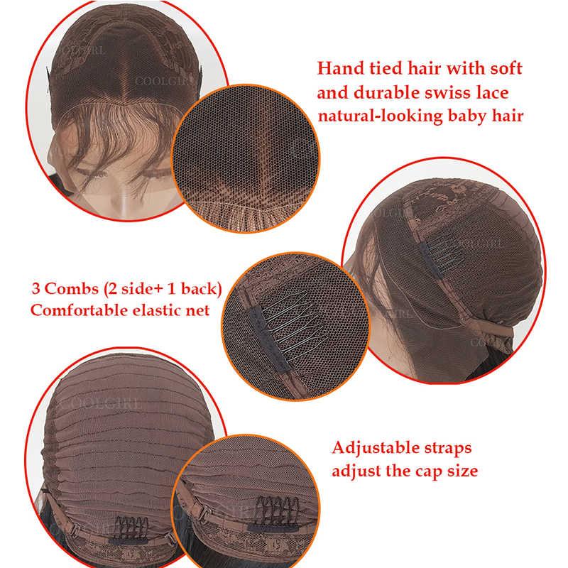 Oxeely 180 densidad de encaje sintético pelucas delanteras sueltas rizo profundo Color negro pelucas de pelo largo peluca frontal de encaje para mujer el pelo del bebé