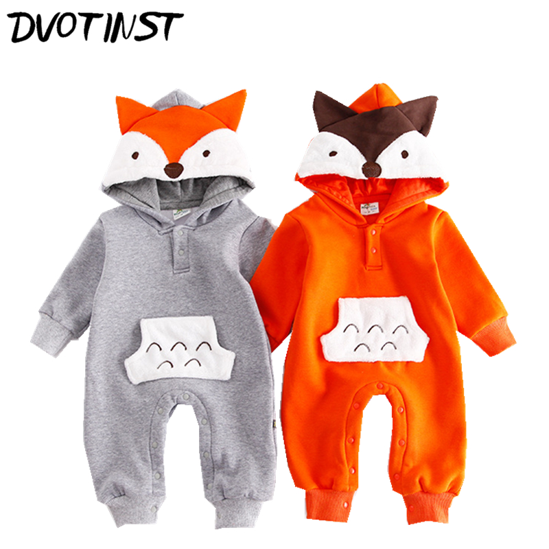 Baby Boys Girls Clothes Full Sleeves Animals Halloween Cospaly Fox Rompers Outfits Infantil Toddler Jumpsuit Clothing Costume