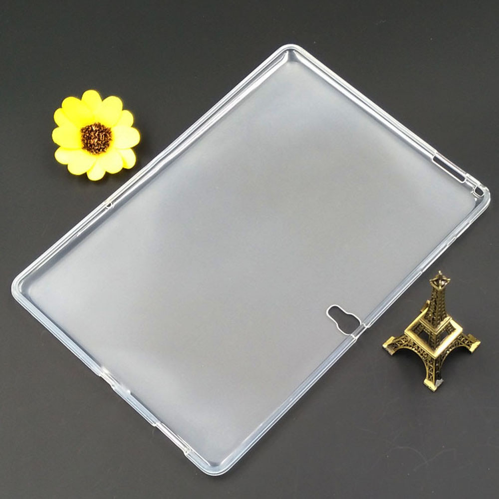 все цены на tablet Case For Samsung Galaxy Tab S 10.5 T800 T805C Luxury Slim silicone Crystal Clear TPU Protective Back Cases Cover онлайн