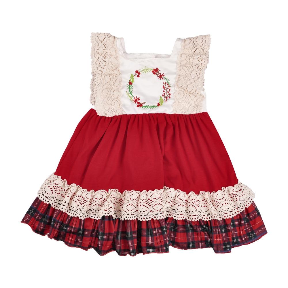 Chica patchwork vestido sin mangas de la impresión de los bebés Niñas Ropa boutique holiday kids wear vestido de verano casual LYQ808-292