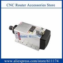 ความเร็วสูง 18000Rpm 3.5kw ER20 Air Cooledมอเตอร์แกนสแควร์รูปร่างหน้าแปลนไม้แกนมอเตอร์
