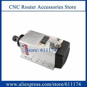 Image 1 - ความเร็วสูง 18000Rpm 3.5kw ER20 Air Cooledมอเตอร์แกนสแควร์รูปร่างหน้าแปลนไม้แกนมอเตอร์