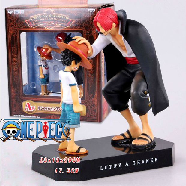 2016 New One Piece Child Monkey D Luffy Shanks Action Figure Toys Reminiscence 17 cm PVC Dolls Decoration kingcamp child action 3834