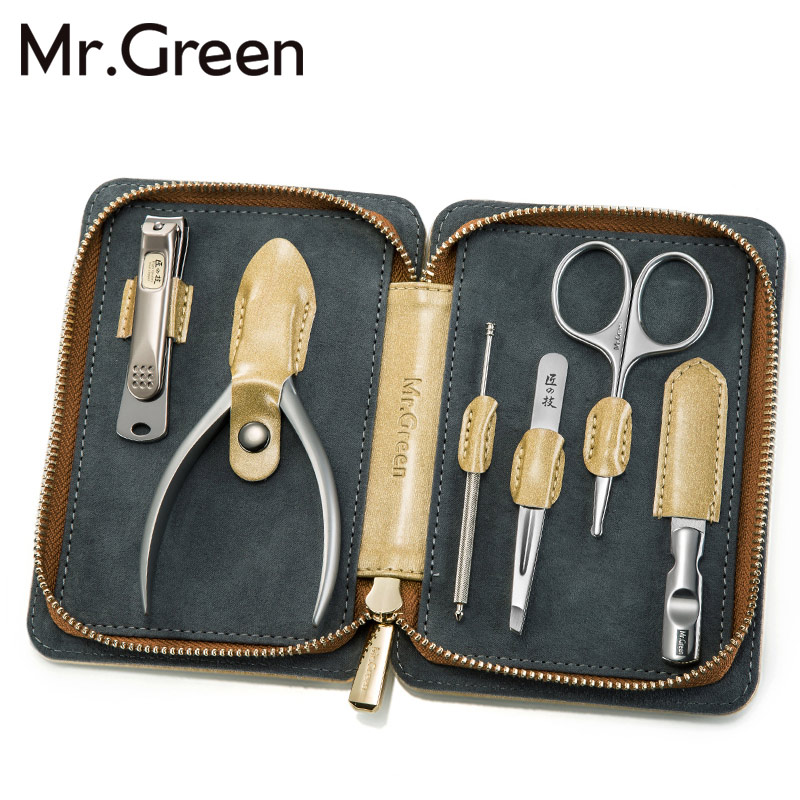 MR. GREEN маникюрный набор комплекты клиперов для ногтей Ножницы для пальцев набор 6 в 1 инструмент для ногтей набор для ухода за ногтями лучший ...