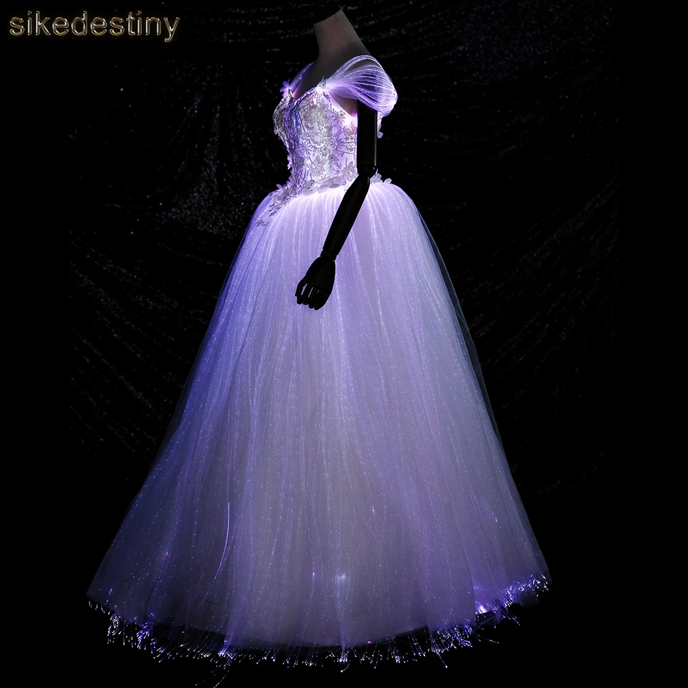 Night Glow Luminous Wedding Dress Variable Color For Model