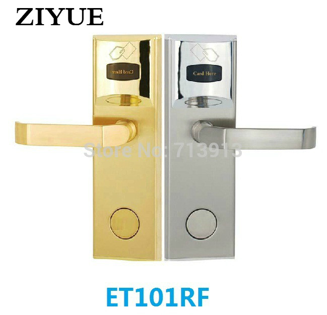 Zinc Alloy Stainless Steel Electronic Manual Key RFID Card Hotel Smart Card Door Lock ET101RF hotel lock system rfid t5577 hotel lock gold silver zinc alloy forging material sn ca 8037