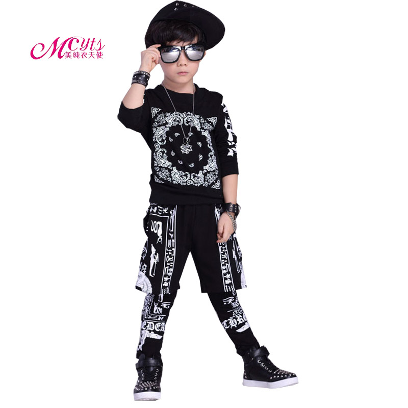 Childrens Clothing Sets Spring Autumn Boys Sports Suit Hip hop Clothes 2 Pieces Kids Outfits Tracksuit 4 6 8 10 12 14 15 Years