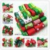 TC17 Retail Christmas Style Ribbon Set Mix Decorative Printed Grosgrain Ribbon 23 Meters Mix