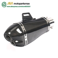 Universal akrapovic Carbon Glass Fiber exhaust motorcycle Slip On For KTM Benelli Honda Kawasaki Yamaha Ducati
