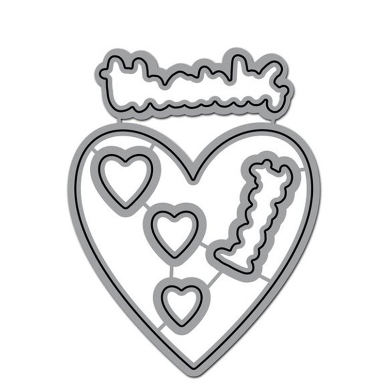 Heart Thanks Letter Word Frame New Dies for 2019 Metal Cutting Dies Scrapbooking Craft Dies Album Embossing Stencil Decoration in Cutting Dies from Home Garden