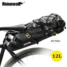 RHINOWALK 10L 12L полностью водонепроницаемая велосипедная седельная сумка для шоссейного горного велосипеда, велосипедная задняя стойка, сумка для багажа, Аксессуары для велосипеда
