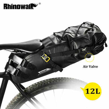 RHINOWALK 10L 12L Full Waterproof Bicycle Saddle Bag Road Mountain Bike Cycling Rear Rack Bag Luggage Pannier Bike Accessories - DISCOUNT ITEM  40% OFF All Category