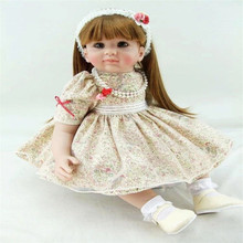 22 inch 55 cm reborn Silicone dolls lifelike doll reborn babies toys Beautiful long hair doll