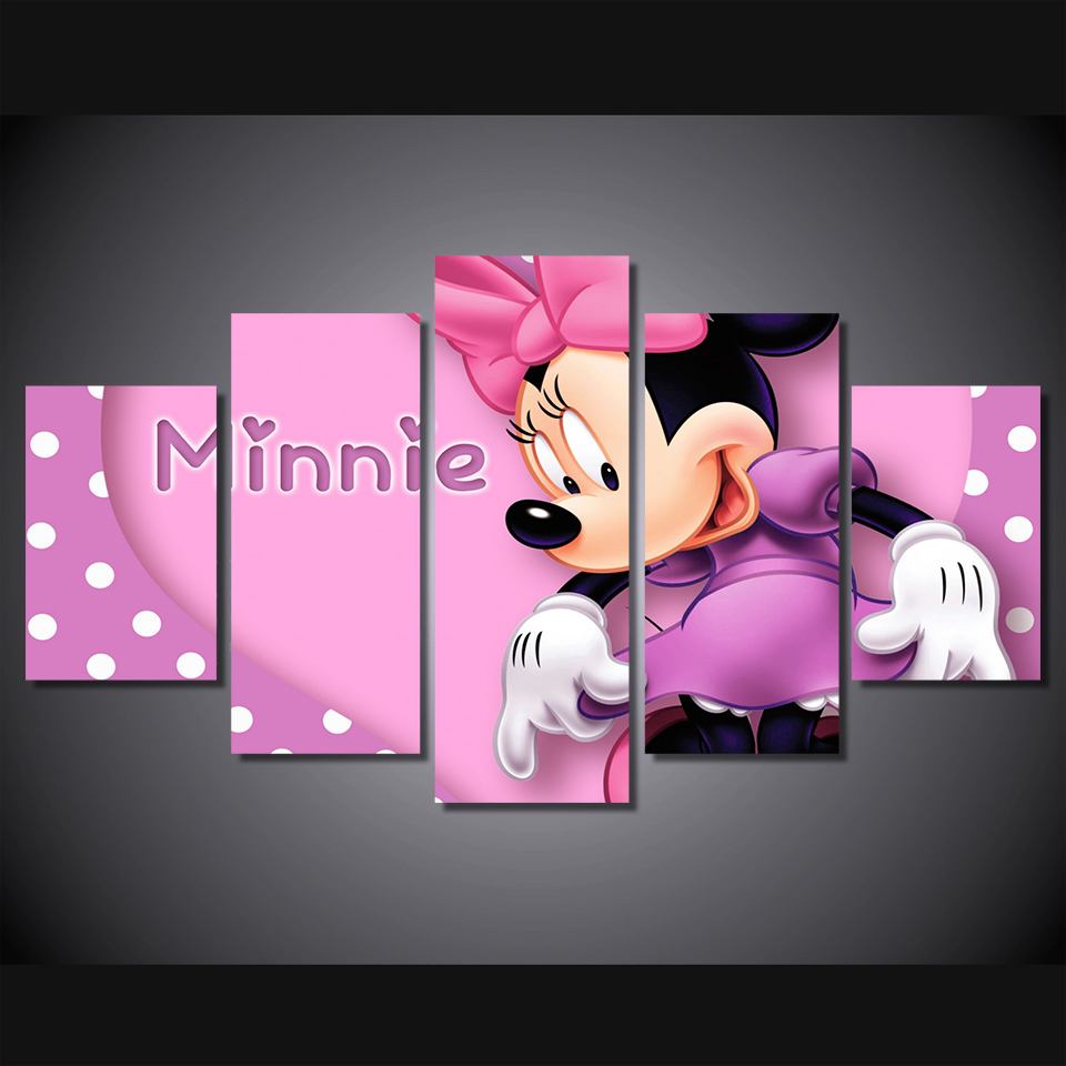 Minnie mouse picture promotion shop for promotional minnie for Decoration chambre minnie