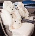 10 шт. Зима Теплая 3D Sexy Teddy Bear Плюшевые универсальный автомобилей чехлы Мишка автомобиль Аксессуары Для Интерьера