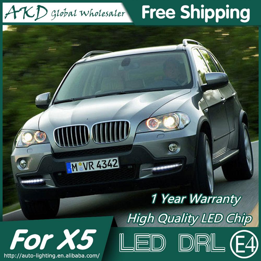 AKD Car Styling LED Fog Lamp for BMW X5 DRL 2007-2010 E70 LED Daytime Running Light Fog Light Parking Signal Accessories