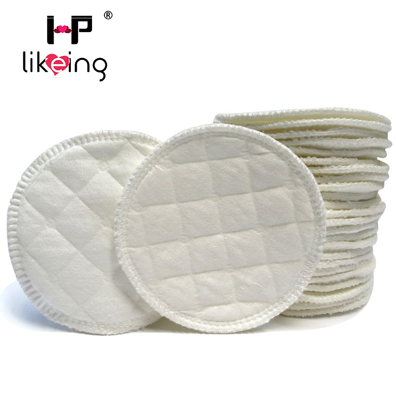 hplikeing30 pcs Soft Absorbent Cotton Washable Reusable Breast feeding Breast Nursing Pads Maternity Feed Nurse For Baby Feeding in Nursing Pads from Mother Kids