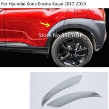 car fender stick rear door word Reflective sticker wheel eyebrow frame trim 2pcs For Hyundai Kona Encino Kauai 2017 2018 2019