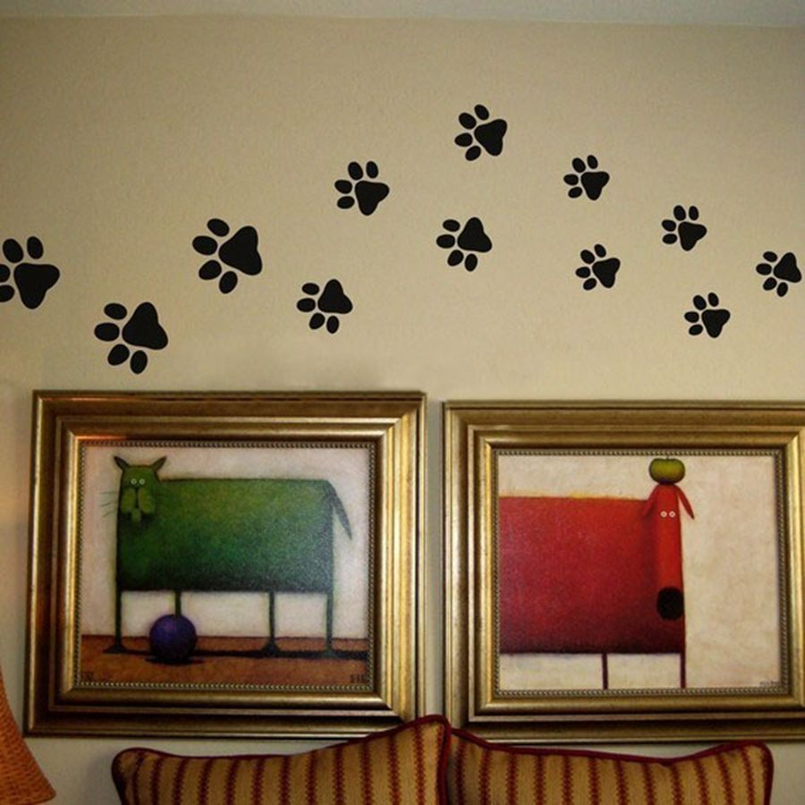 paw print wall stickers 20 walking paw prints wall decal home decor